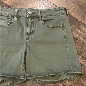 AEO Olive Green Midi Shorts